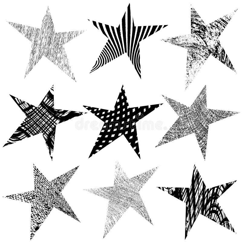 Stern-Vorlagen-Satz vektor abbildung. Illustration von bekanntmachen ...