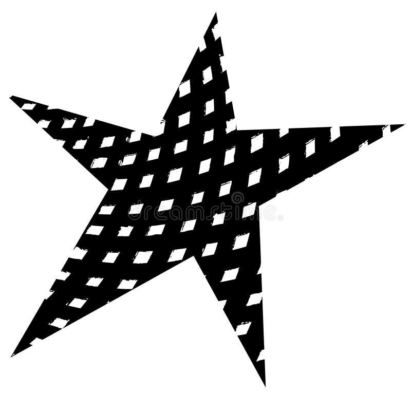 Stern-Vorlagen-Schmutz vektor abbildung. Illustration von beunruhigt ...