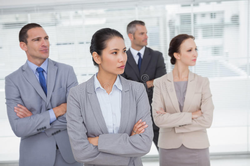 Download Stern Work Team Crossing Arms And Looking Away Stock Image - Image: 33051243