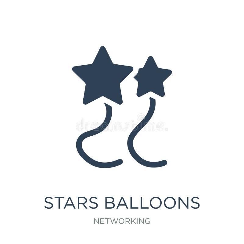 Sternballonikone in der modischen Entwurfsart Sternballonikone lokalisiert auf weißem Hintergrund Sternballon-Vektorikone einfach vektor abbildung