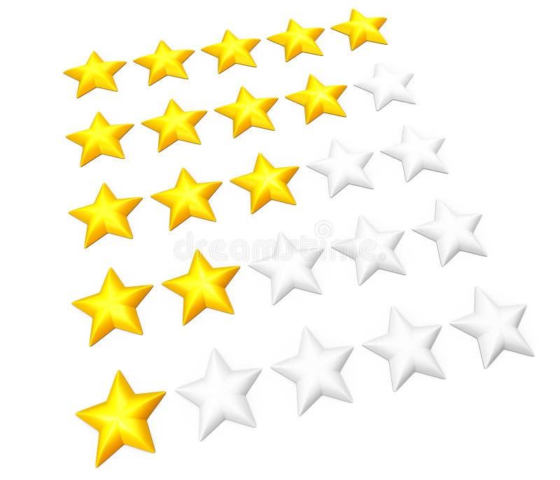 Sternbewertungssatz lizenzfreie abbildung