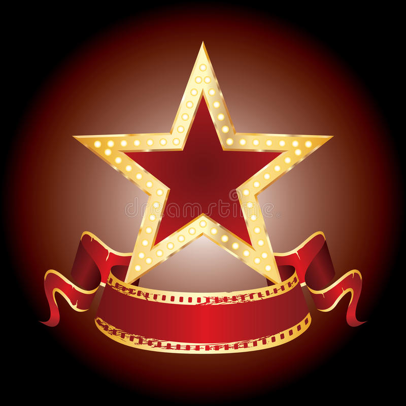 Sternbildschirmanzeige stock abbildung