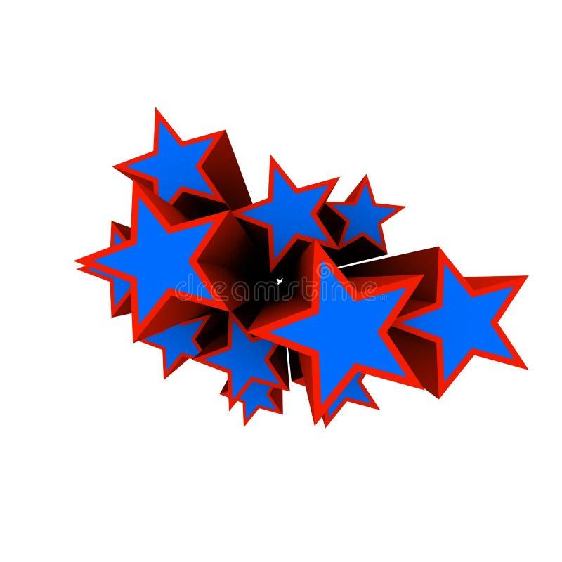 Sterne 3d stock abbildung