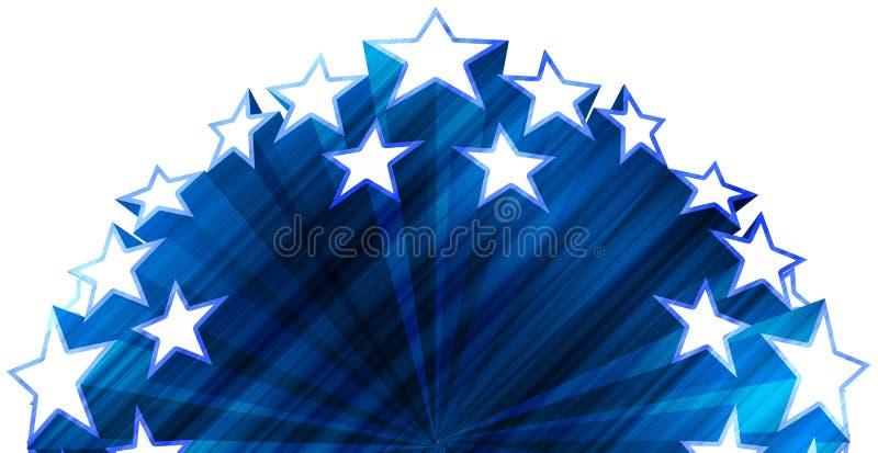 Sterne auf blauem grunge lizenzfreie abbildung