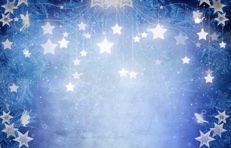 Sterne auf blauem Hintergrund lizenzfreie abbildung