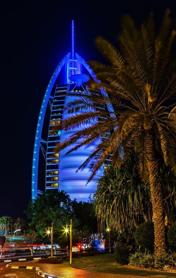 Sterne Burj-Al Araber-sieben sprechen Arabische Emirate zu stockbild