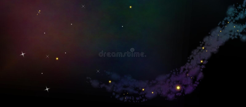 Sterne in den Wolken stockfoto
