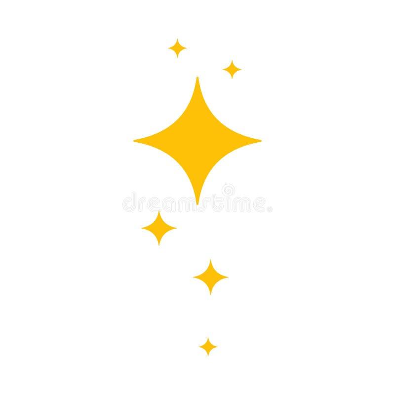 Sterne der Helligkeit und des Strahlens von Sauberkeit und von Frische vektor abbildung