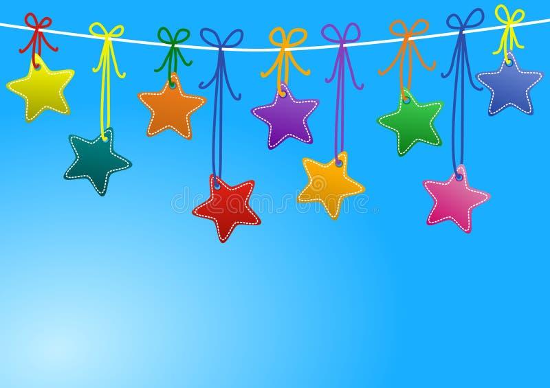Sterne, die an einem Seil hängen vektor abbildung