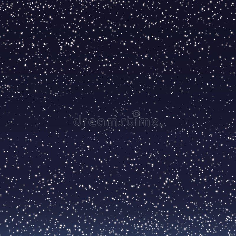 Sterne im nächtlichen Himmel stock abbildung