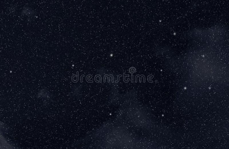 Sterne im Platz stock abbildung