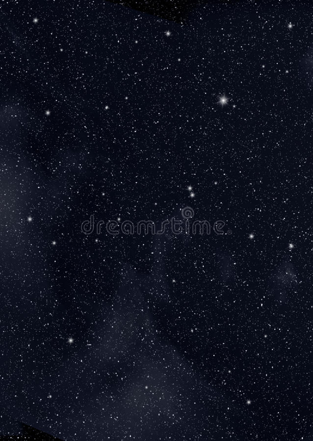Sterne im Platz lizenzfreies stockfoto