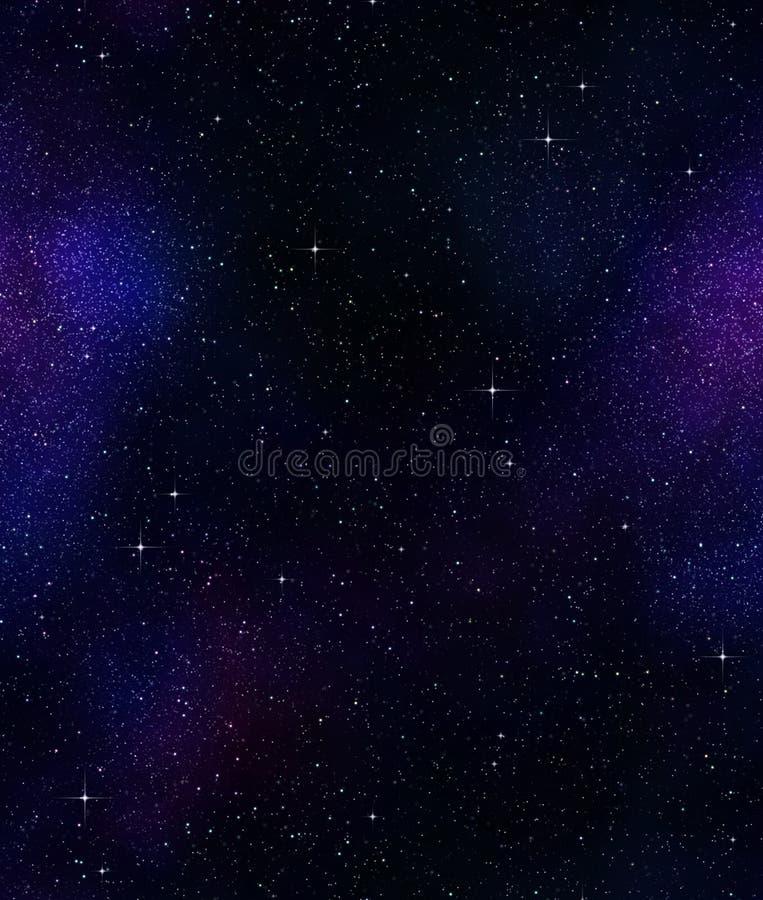 Sterne im Platz oder im nächtlichen Himmel lizenzfreie abbildung