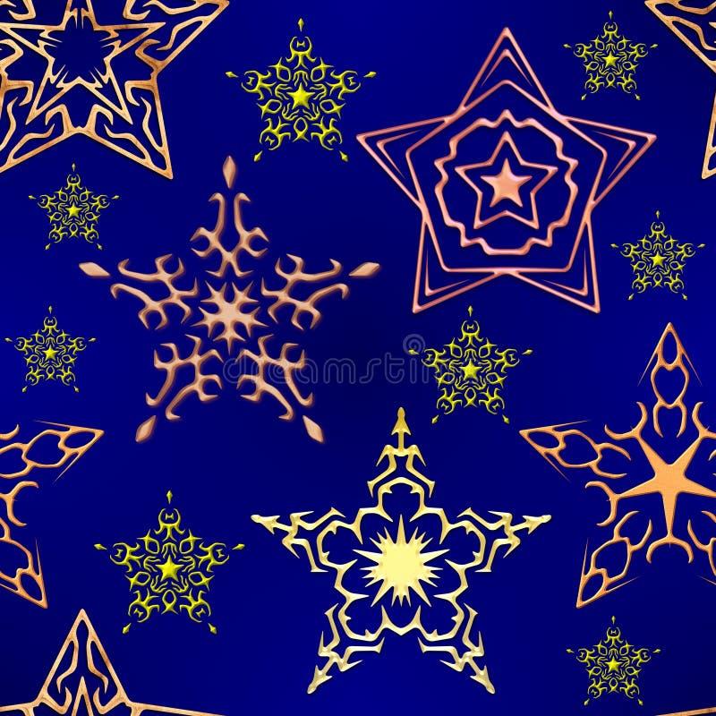 Sterne nachts lizenzfreie abbildung