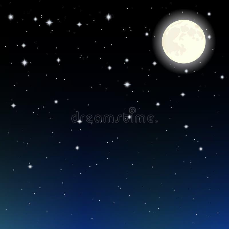Sterne und Mond stock abbildung