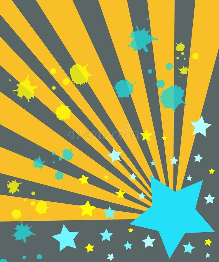 Sterne und Strahlen lizenzfreie abbildung