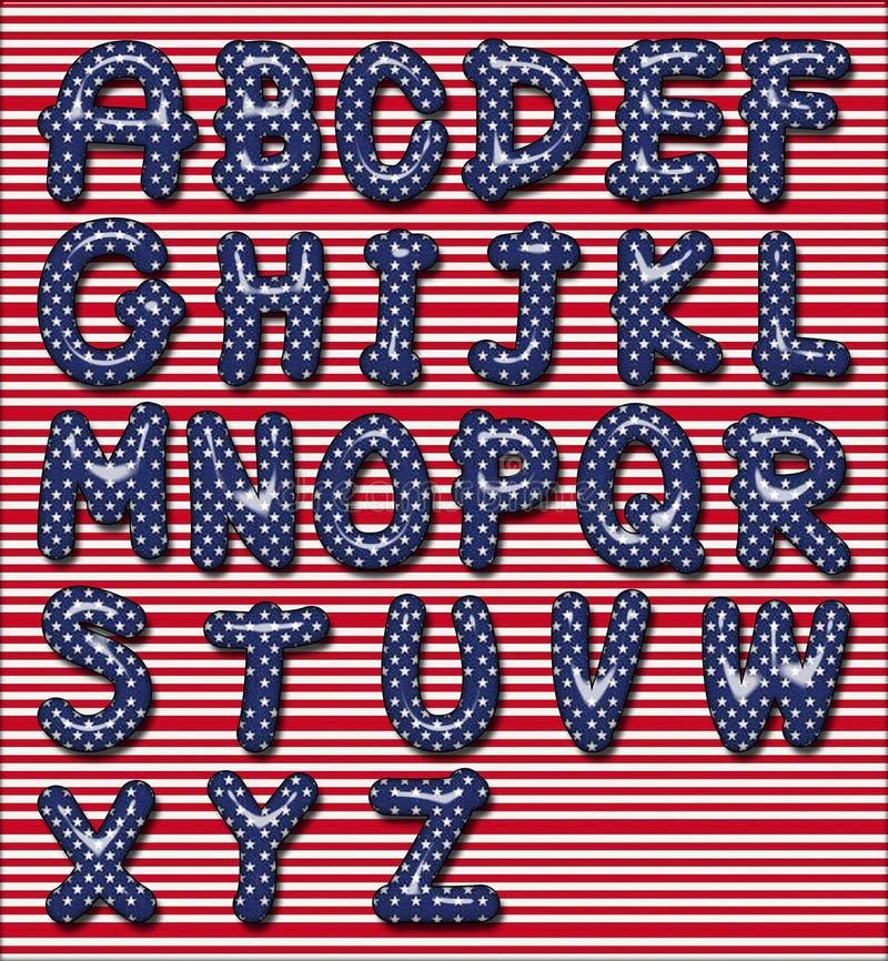 Sternenbanner Schrifttyp