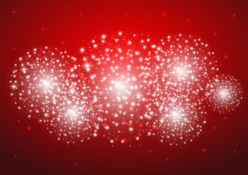 Sternenklare Feuerwerke lizenzfreie abbildung