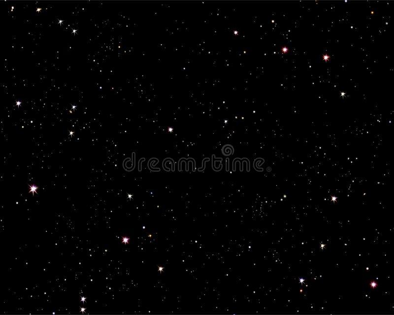 Sternenklare Nacht stock abbildung