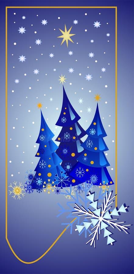 Sternenklare Weihnachtsnacht lizenzfreie abbildung