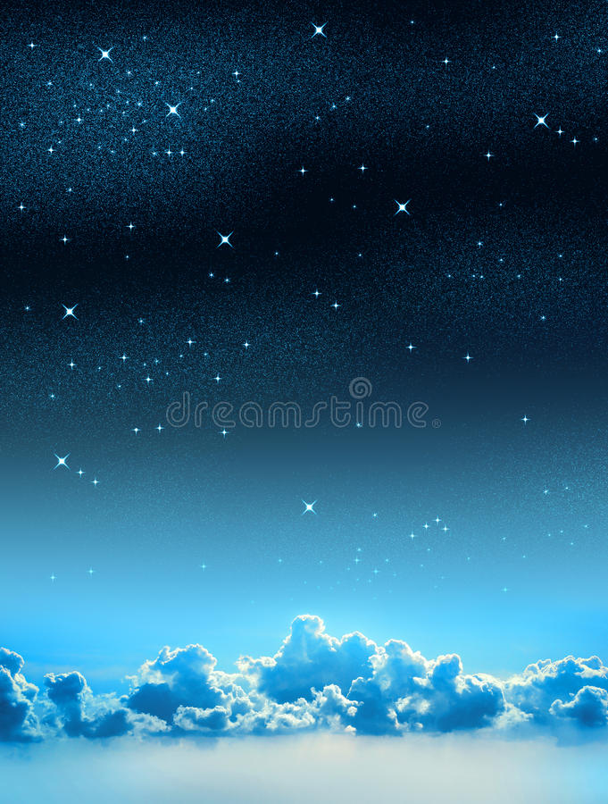 Sternenklarer Himmel stock abbildung