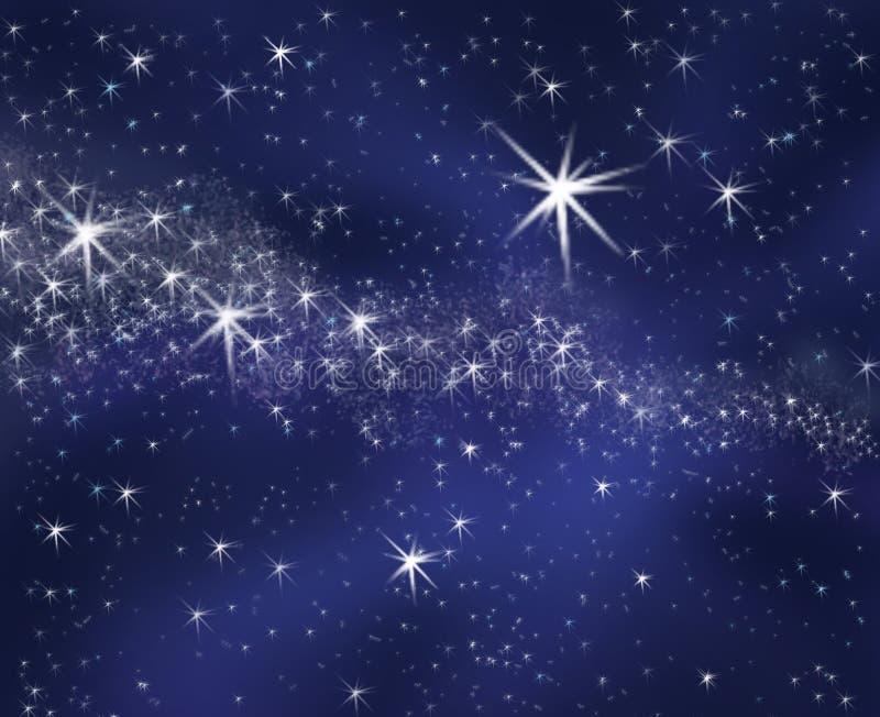 Sternenklarer Himmel des Hintergrundes vektor abbildung