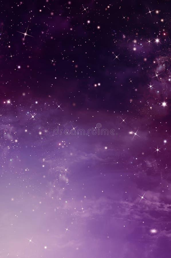 Sternenklarer Himmel, Hintergrund lizenzfreie abbildung