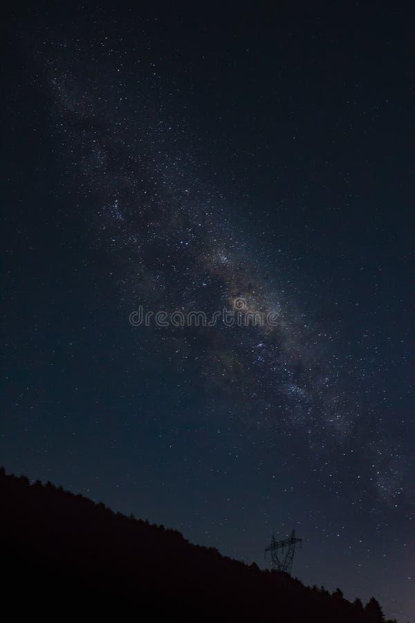Sternenklarer Himmel - südlich von Frankreich lizenzfreie stockbilder
