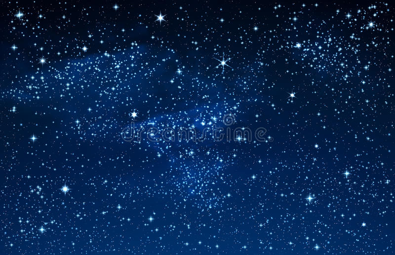 Sternenklarer Himmel und Galaxie lizenzfreie abbildung