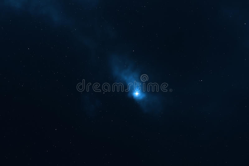 Sternenklarer Himmelsplatzhintergrund stock abbildung