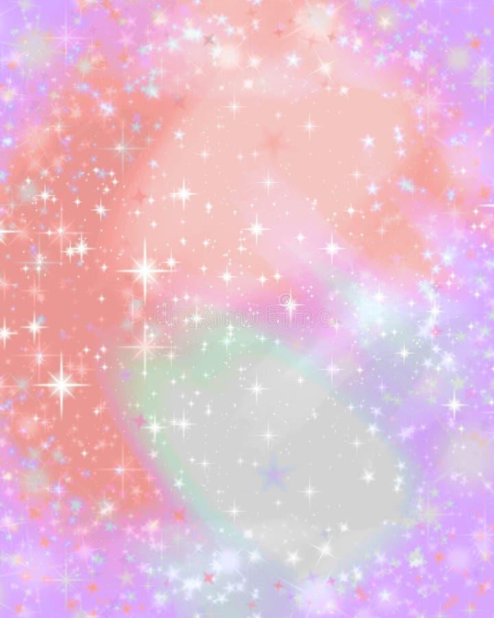 Sternenklarer Hintergrund des rosafarbenen Scheins lizenzfreie abbildung