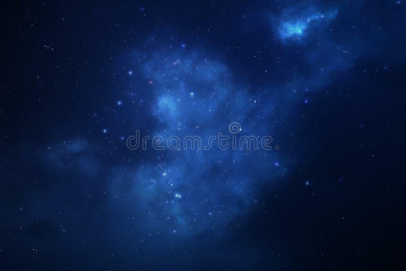 Sternenklarer Raumhintergrund des nächtlichen Himmels lizenzfreies stockbild
