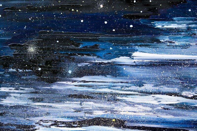 Sternenklares Himmelnachtöl stockfoto