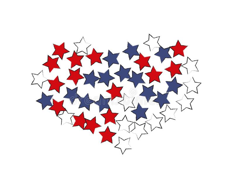 Sternenklares Inneres ENV 10 stock abbildung