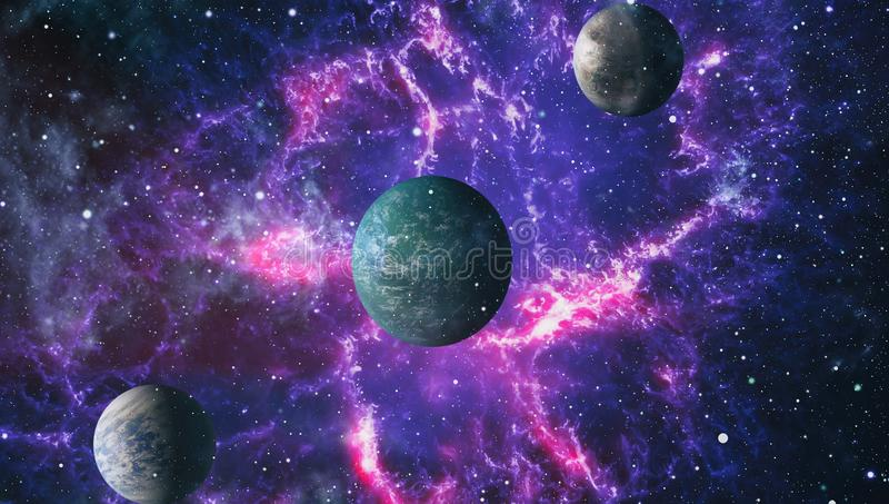 Sternfeld im Weltraum viele Lichtjahre weit von die Erde Elemente dieses Bildes geliefert von der NASA vektor abbildung