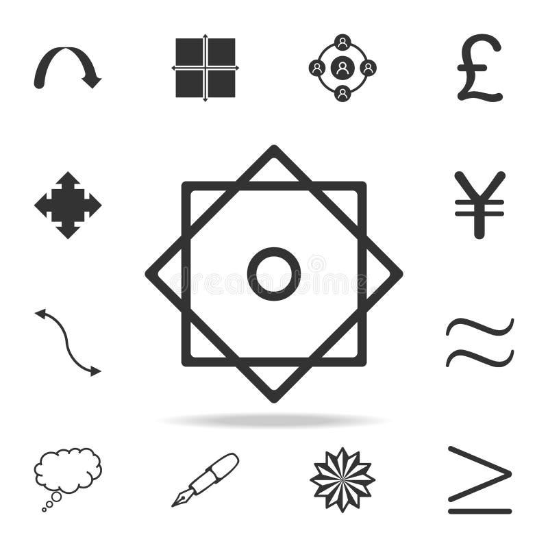 Sternikone mit acht Punkten Ausführlicher Satz Netzikonen und -zeichen Erstklassiges Grafikdesign Eine der Sammlungsikonen für We lizenzfreie abbildung