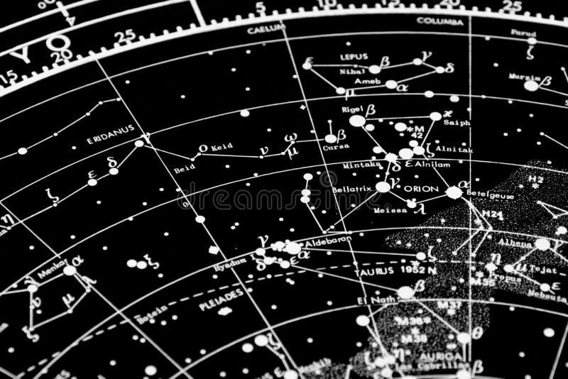Sternkundliche Karte lizenzfreies stockfoto