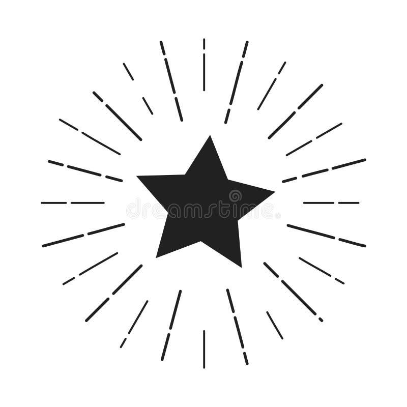 Sternlogo, das Aufmerksamkeit erregt lizenzfreie abbildung