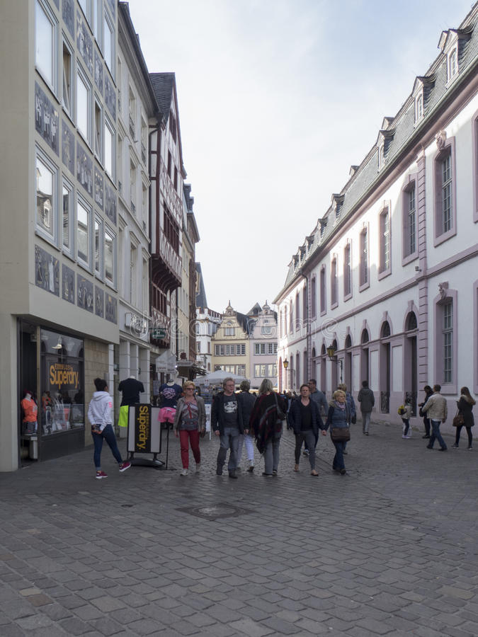 Sternstrase, Trier royalty free stock images
