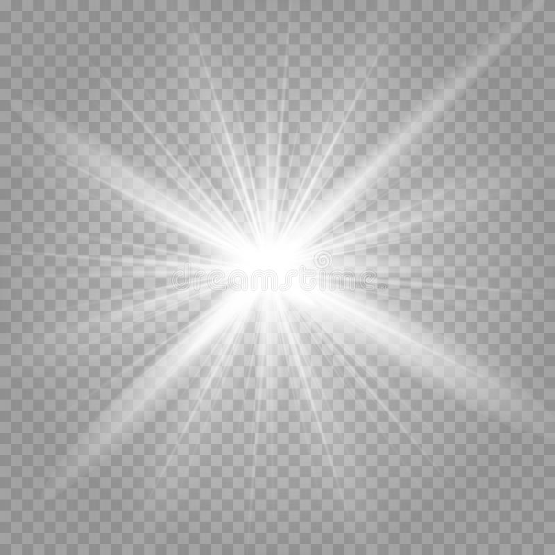 Sterntausenden der glänzenden Lichter stock abbildung