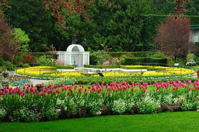 Sternteich in den butchart Gärten lizenzfreies stockbild