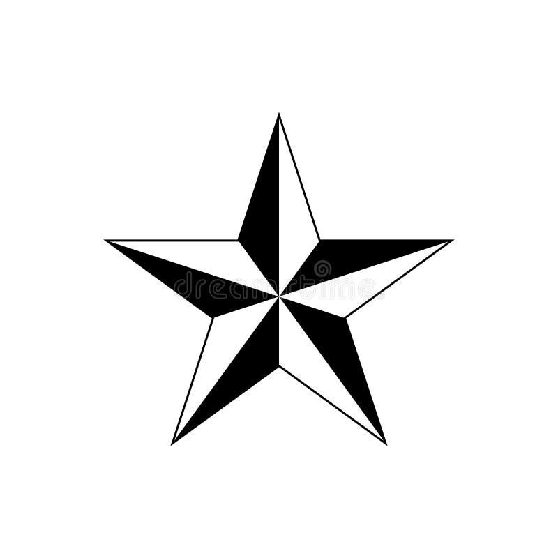 Sternvektorikone für Grafikdesign, Logo, Website, Social Media, mobiler App, ui Illustration lizenzfreie abbildung
