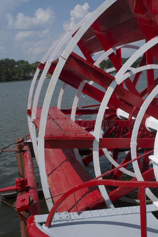 Sternwheel paddle detail stock photos