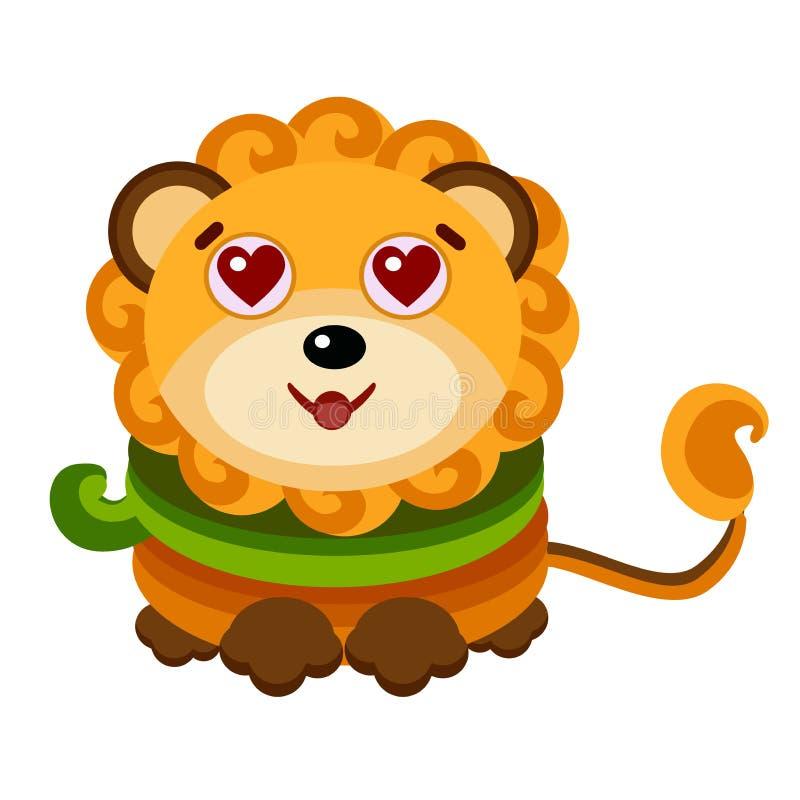 Sternzeichen Löwe, Vektorillustration Emoji-Ausdruck stock abbildung