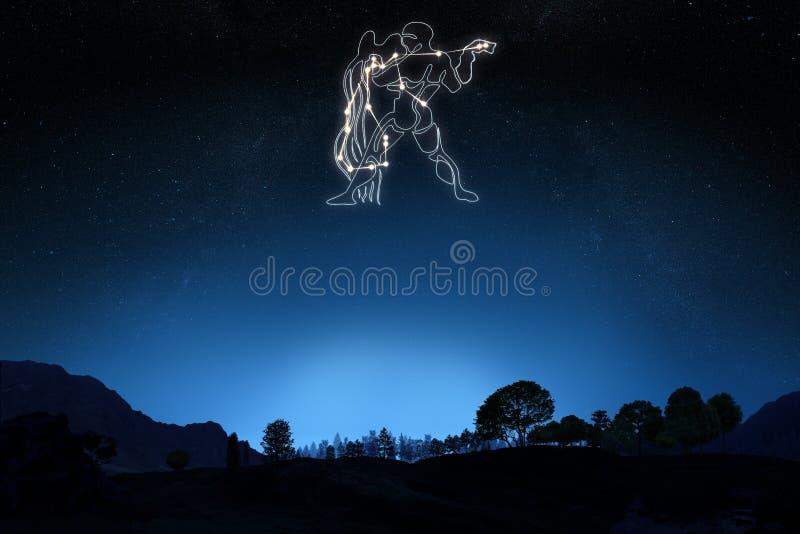 Sternzeichen-Wassermann stockfotos