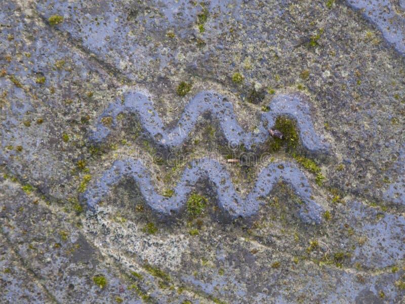 Sternzeichen - Wassermann stockfoto