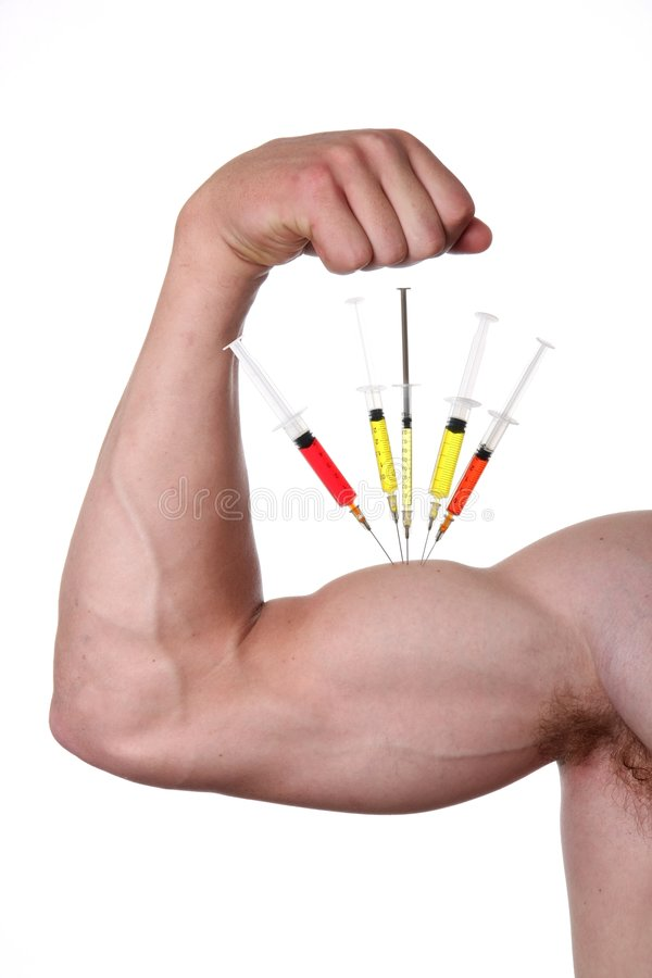 Steroid Muscles royalty free stock photo