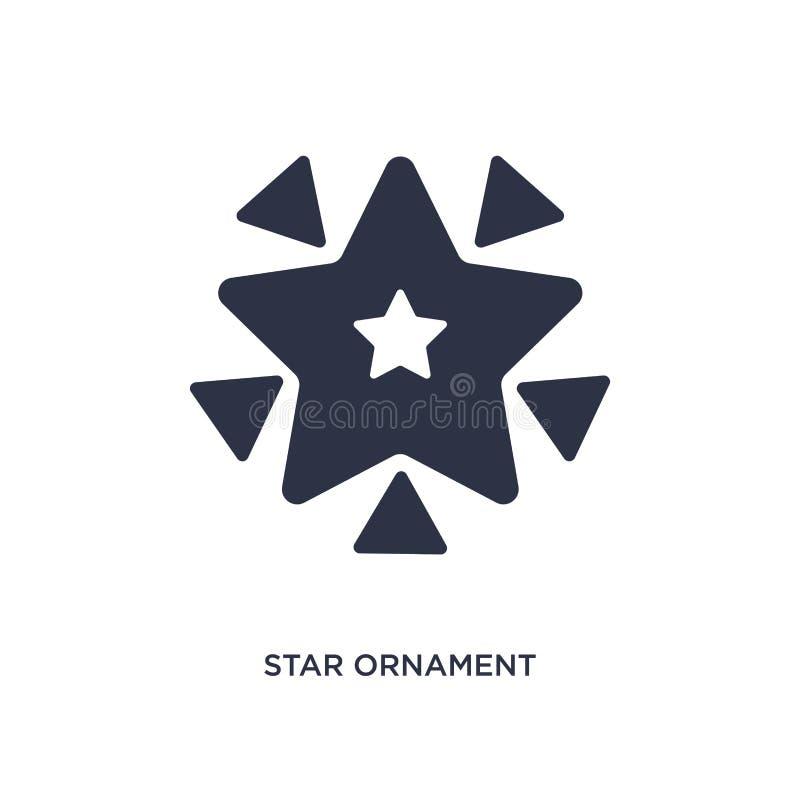 sterornament van driehoekenpictogram op witte achtergrond Eenvoudige elementenillustratie van meetkundeconcept stock illustratie