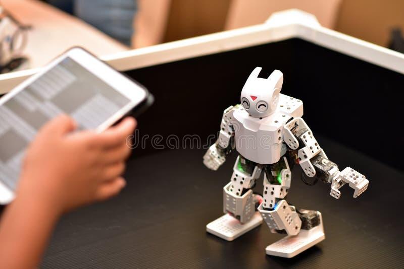 Sterowanie robotem Przesuń Robot zdjęcia stock