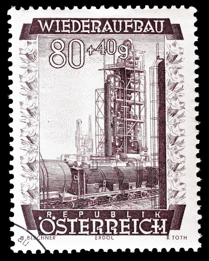 ?sterreich auf Briefmarke lizenzfreie stockfotografie